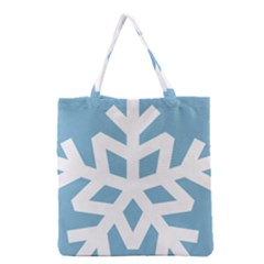 Snowflake Snow Flake White Winter Grocery Tote Bag by Nexatart