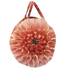 Dahlia Flower Joy Nature Luck Giant Round Zipper Tote