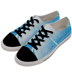 Court Sport Blue Red White Men s Low Top Canvas Sneakers by Nexatart