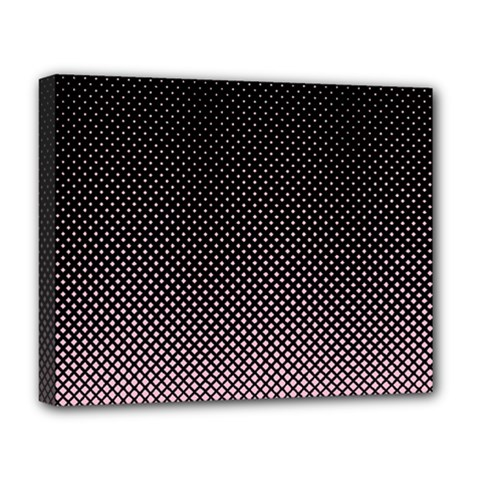 Halftone Background Pattern Black Deluxe Canvas 20  X 16