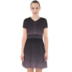 Halftone Background Pattern Black Adorable In Chiffon Dress