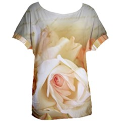 Roses Vintage Playful Romantic Women s Oversized Tee