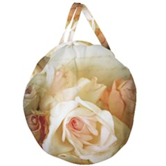 Roses Vintage Playful Romantic Giant Round Zipper Tote