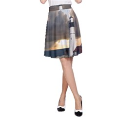 Lighthouse Beacon Light House A Line Skirt