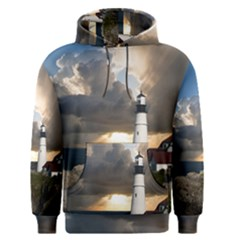 Lighthouse Beacon Light House Men s Pullover Hoodie by Nexatart