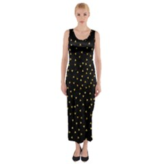 Grunge Pattern Black Triangles Fitted Maxi Dress