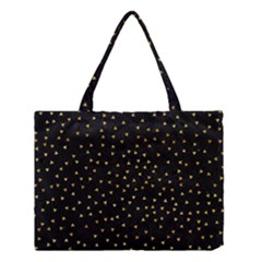 Grunge Pattern Black Triangles Medium Tote Bag