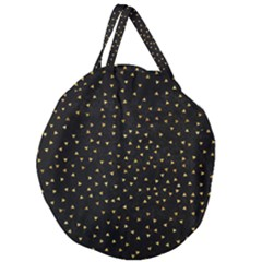Grunge Pattern Black Triangles Giant Round Zipper Tote