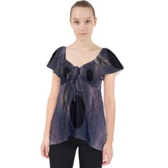Black Hole Blue Space Galaxy Star Lace Front Dolly Top