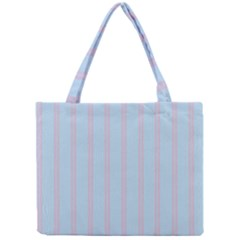 Bleu Pink Line Vertical Mini Tote Bag