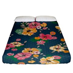 Aloha Hawaii Flower Floral Sexy Fitted Sheet (king Size) by Mariart