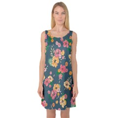 Aloha Hawaii Flower Floral Sexy Sleeveless Satin Nightdress by Mariart