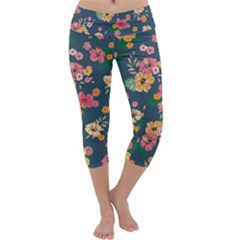 Aloha Hawaii Flower Floral Sexy Capri Yoga Leggings by Mariart