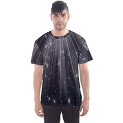 Black Rays Light Stars Space Men s Sports Mesh Tee by Mariart