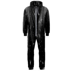 Black Rays Light Stars Space Hooded Jumpsuit (men)  by Mariart