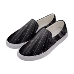 Black Rays Light Stars Space Women s Canvas Slip Ons by Mariart