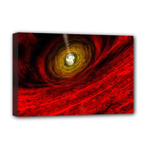 Black Red Space Hole Deluxe Canvas 18  X 12   by Mariart