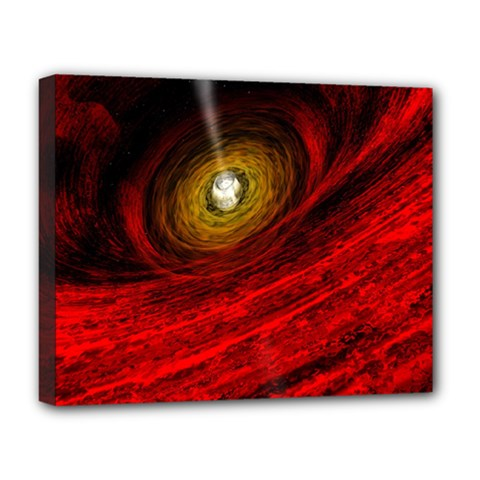 Black Red Space Hole Deluxe Canvas 20  X 16   by Mariart