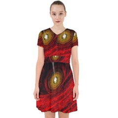 Black Red Space Hole Adorable In Chiffon Dress
