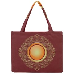 Badge Gilding Sun Red Oriental Mini Tote Bag by Nexatart