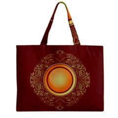 Badge Gilding Sun Red Oriental Zipper Mini Tote Bag by Nexatart