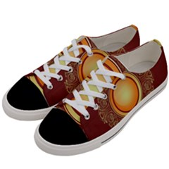 Badge Gilding Sun Red Oriental Women s Low Top Canvas Sneakers by Nexatart