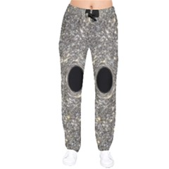 Black Hole Blue Space Galaxy Star Light Drawstring Pants by Mariart