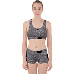 Black Hole Blue Space Galaxy Star Light Work It Out Sports Bra Set by Mariart