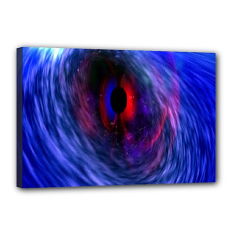 Blue Red Eye Space Hole Galaxy Canvas 18  X 12  by Mariart