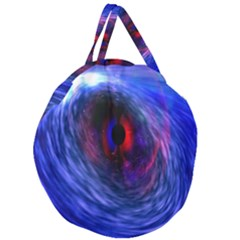 Blue Red Eye Space Hole Galaxy Giant Round Zipper Tote by Mariart