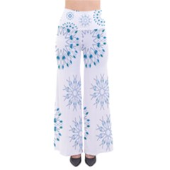 Blue Winter Snowflakes Star Triangle Pants