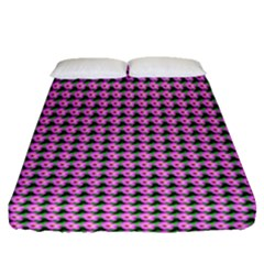 Pattern Grid Background Fitted Sheet (queen Size) by Nexatart