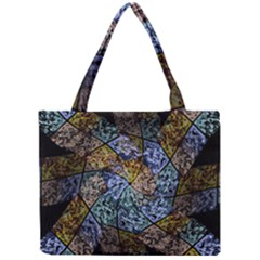 Multi Color Tile Twirl Octagon Mini Tote Bag