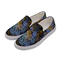 Multi Color Tile Twirl Octagon Women s Canvas Slip Ons by Nexatart