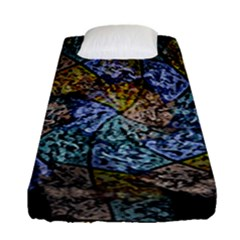 Multi Color Tile Twirl Octagon Fitted Sheet (single Size) by Nexatart