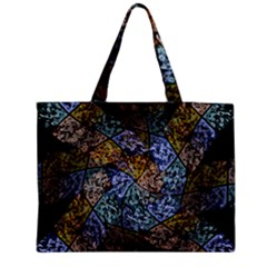 Multi Color Tile Twirl Octagon Medium Tote Bag by Nexatart