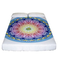 Mandala Universe Energy Om Fitted Sheet (king Size) by Nexatart