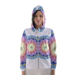 Mandala Universe Energy Om Hooded Wind Breaker (women)