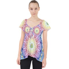 Mandala Universe Energy Om Lace Front Dolly Top