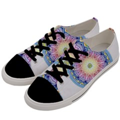 Mandala Universe Energy Om Men s Low Top Canvas Sneakers by Nexatart