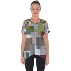 Decor Painting Design Texture Cut Out Side Drop Tee