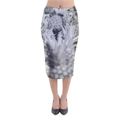 Pineapple Market Fruit Food Fresh Velvet Midi Pencil Skirt