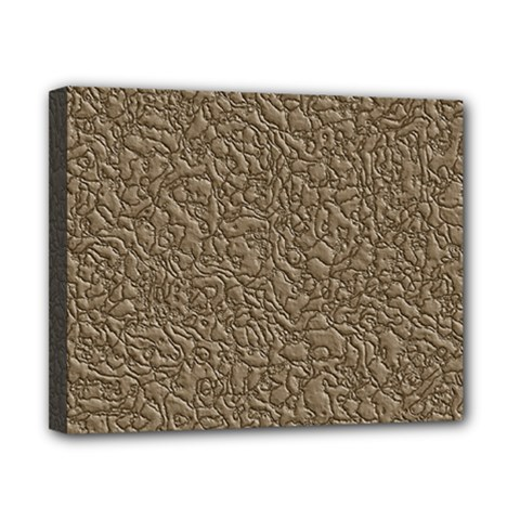 Leather Texture Brown Background Canvas 10  X 8
