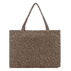 Leather Texture Brown Background Medium Tote Bag