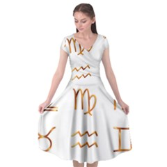 Signs Of The Zodiac Zodiac Aries Cap Sleeve Wrap Front Dress by Nexatart