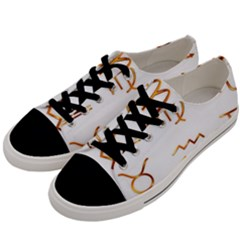 Signs Of The Zodiac Zodiac Aries Men s Low Top Canvas Sneakers by Nexatart