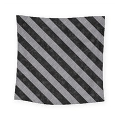 Stripes3 Black Marble & Gray Colored Pencil (r) Square Tapestry (small) by trendistuff