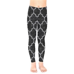 Tile1 Black Marble & Gray Colored Pencil Kids  Legging by trendistuff