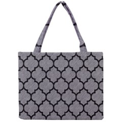 Tile1 Black Marble & Gray Colored Pencil (r) Mini Tote Bag by trendistuff