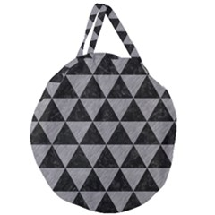 Triangle3 Black Marble & Gray Colored Pencil Giant Round Zipper Tote by trendistuff